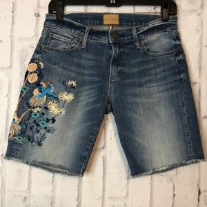 Driftwood Brandi Bermuda Embroidered Shorts